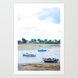 218. Some Boats, Britain, France Art Print