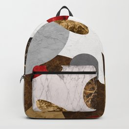 MARBLE SPHERE GALAXY GOLD RED GREY Backpack
