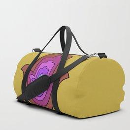 hamsa hand in yellow lotus Duffle Bag