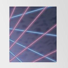Laser Class Photo Backdrop Throw Blanket