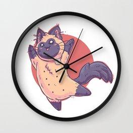 Kitty Nips Wall Clock