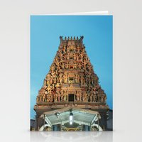 hindu Stationery Cards featuring HINDU TEMPLE by JChrst