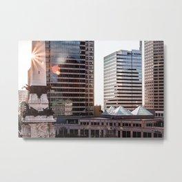 Buildings in Indy Metal Print