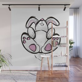 Exhausted Easter Bunny Wall Mural