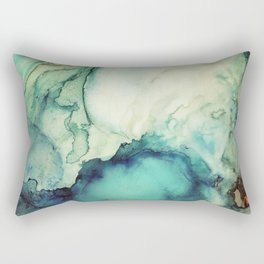 Teal Abstract Rectangular Pillow
