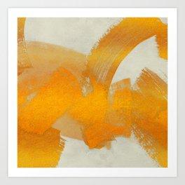 Brush stroke gold Art Print