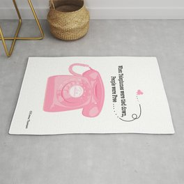 When Telephones Were Tied Down Rug