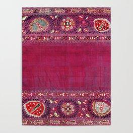 Shakhrisyabz  Southwest Uzbekistan Suzani Embroidery Print Poster