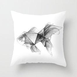 Goldfish Origami Throw Pillow