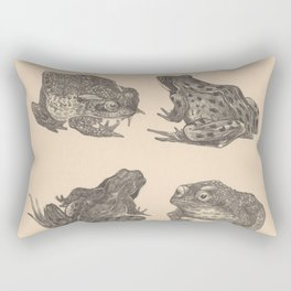 Naturalist Frogs Rectangular Pillow
