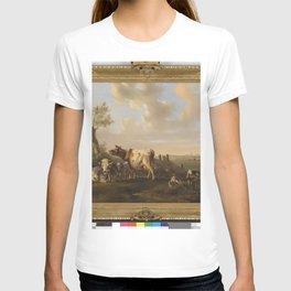Albertus Verhoesen - Landschap met vee bij een vijver T-shirt