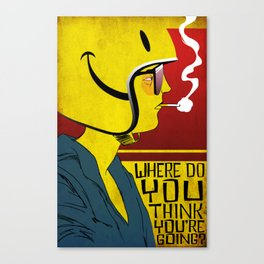 Bike Curious Canvas Print