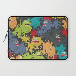 Funny microbes. Laptop Sleeve