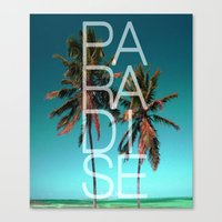 paradise Canvas Prints featuring PARADISE by Chrisb Marquez