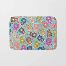Colorful Teddy Bears Pattern Bath Mat
