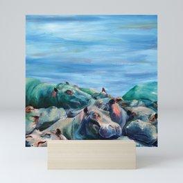 Warrior of Love, Hippos Mini Art Print