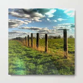 buffalo farm Metal Print