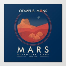 Mars adventure camp Canvas Print