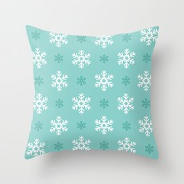 Christmas Snowflake Seamless Pattern Throw Pillow