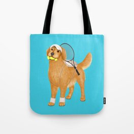 Ready for Tennis Practice (Blue) Tote Bag