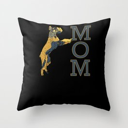 Giant Schnauzer MOM College Style Letters Throw Pillow