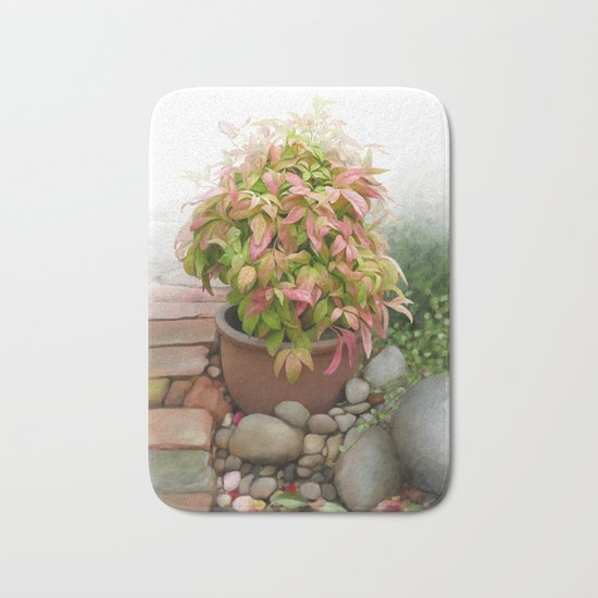 Leaves and Dew Bath Mat