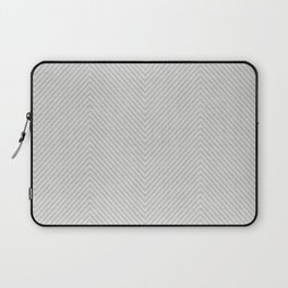 Stitch Weave Geometric Pattern in Grey Laptop Sleeve