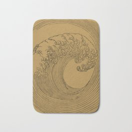 Vintage Golden Wave Bath Mat