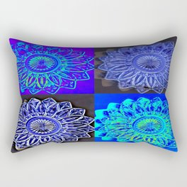 Blue Stars Rectangular Pillow