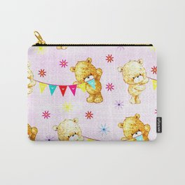 yellow and pink little teddies Carry-All Pouch