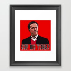 SUP, BIG TUNA?  |  Andy Bernard  |  The Office   Framed Art Print