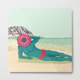 Plantman at the Beach Metal Print