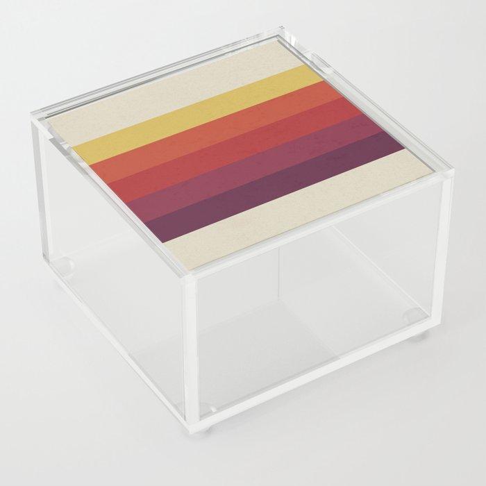 Retro Video Cassette Color Palette Acrylic Box