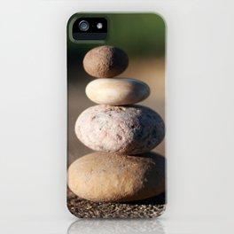 Zen Meditation Stones iPhone Case