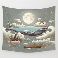submarine Wall Tapestries featuring Ocean Meets Sky (original) by Terry Fan