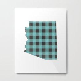 Arizona Plaid in Mint Metal Print