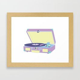 Pastel Turntable Framed Art Print