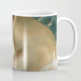 Woman Portrait Listening with Earphones Female Figurative Painting Coffee Mug