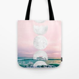 The Moon and the Tides Tote Bag