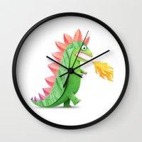 godzilla Wall Clocks featuring Godzilla by Keyspice