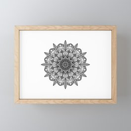 Mandala Round Framed Mini Art Print