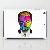 leonardo dicaprio iPad Cases featuring Leonardo DiCaprio - popart portrait by Dep's