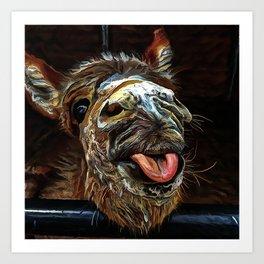 donkey Art Print
