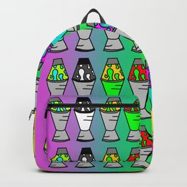 Lava Lamp Colorful Pattern Backpack