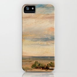 """John Constable """"Cloud Study, Early Morning, Looking East from Hampstead"""" iPhone Case"""