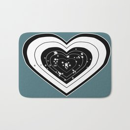Don't use my heart for Target Practice Bath Mat