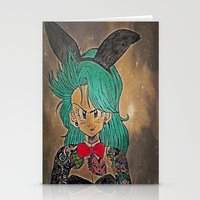 dragon ball Stationery Cards featuring First Lady Of Dragon Ball  by Artistic