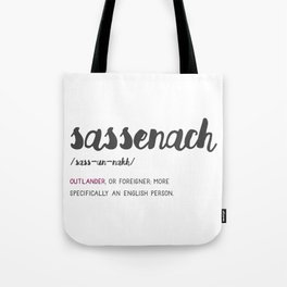 Outlander Sassenach Definition Tote Bag