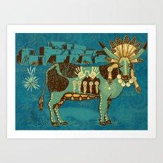 Cowchina Art Print