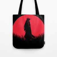 inuyasha Tote Bags featuring Red Moon Inuyasha by Timeless-Id